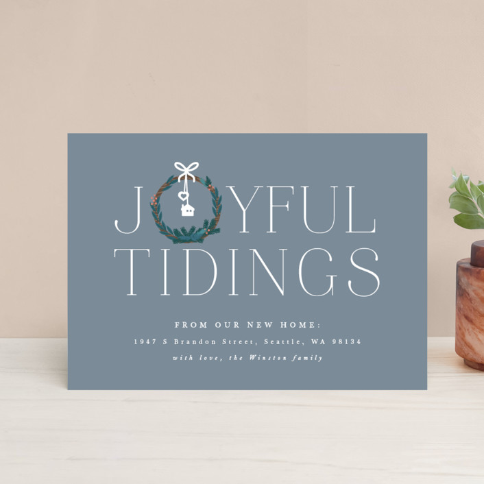 """Joyful New Home"" - Holiday Petite Cards in Frosted by Bonjour Berry."