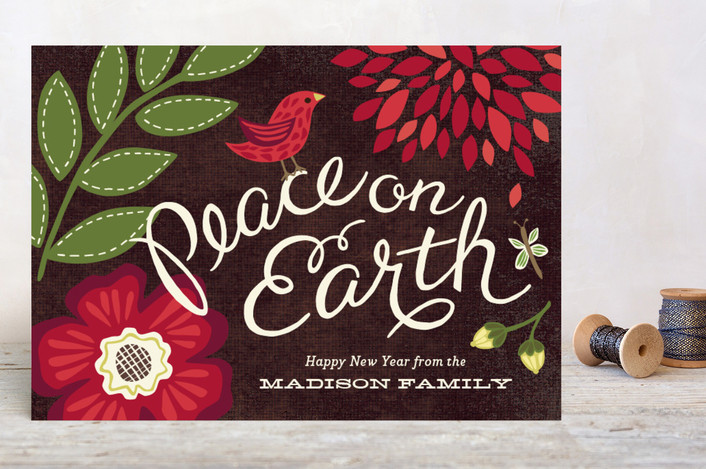 """""""Garden Song"""" - Holiday Petite Cards in Berry by Griffinbell Paper Co.."""
