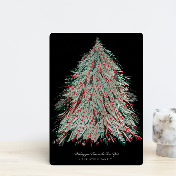 """Enchanted"" - Holiday Petite Cards in Norway Pine by Jennifer Lew."