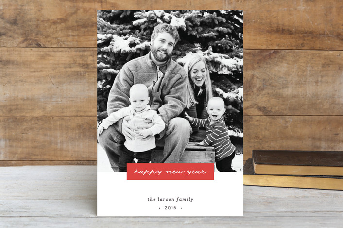 """""""Inscription"""" - Holiday Petite Cards in Ruby by Olivia Raufman."""