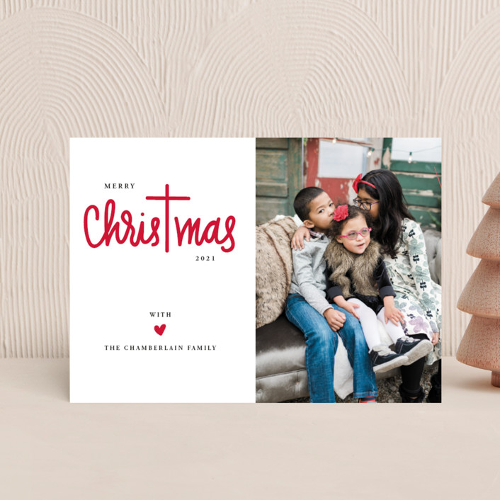 """""""Christ in Christmas"""" - Holiday Petite Cards in Rudolph's Nose by Up Up Creative."""