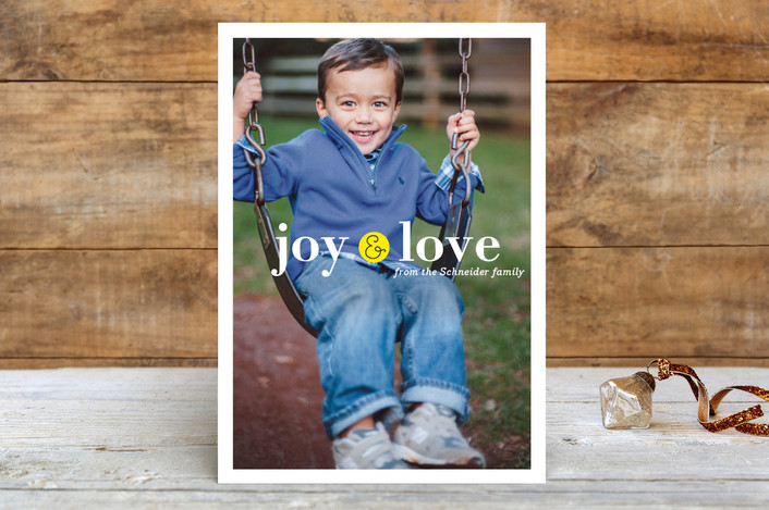 """Little Joy"" - Holiday Petite Cards in Lemon by Carrie ONeal."