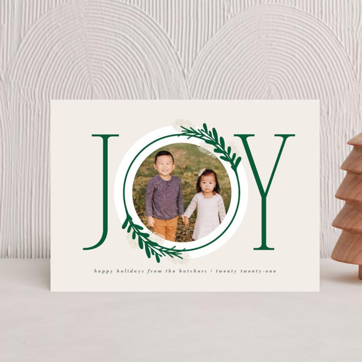 """Center Joy"" - Holiday Petite Cards in Pine by JeAnna Casper."