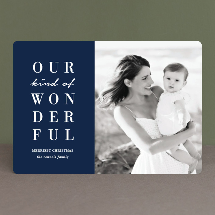 """""""Our Wonderful"""" - Holiday Petite Cards in Midnight by Kaydi Bishop."""
