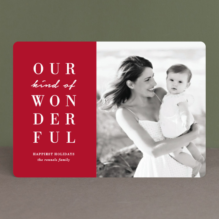 """Our Wonderful"" - Holiday Petite Cards in Candy Cane by Kaydi Bishop."