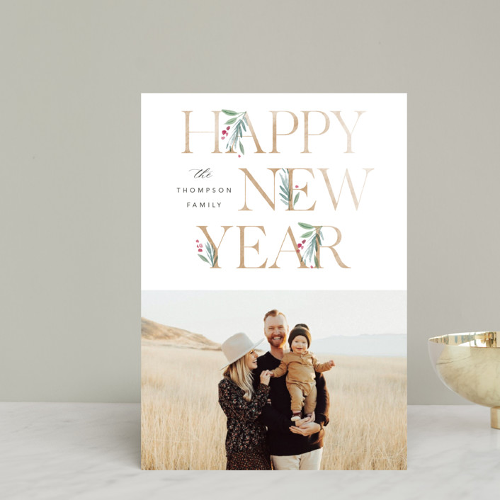 """""""Botanical Swash"""" - Holiday Petite Cards in Snow by Robert and Stella."""