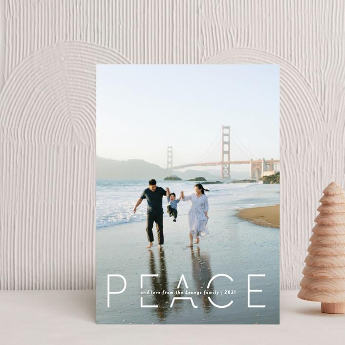 """""""Quietude"""" - Holiday Petite Cards in Glacier by Rebecca Daublin."""