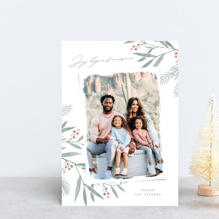"""Organic Harmony"" - Holiday Petite Cards in Rust by Oscar & Emma."