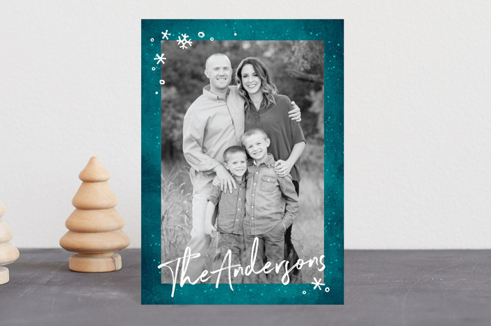 """Frost"" - Holiday Petite Cards in Glacier by GeekInk Design."