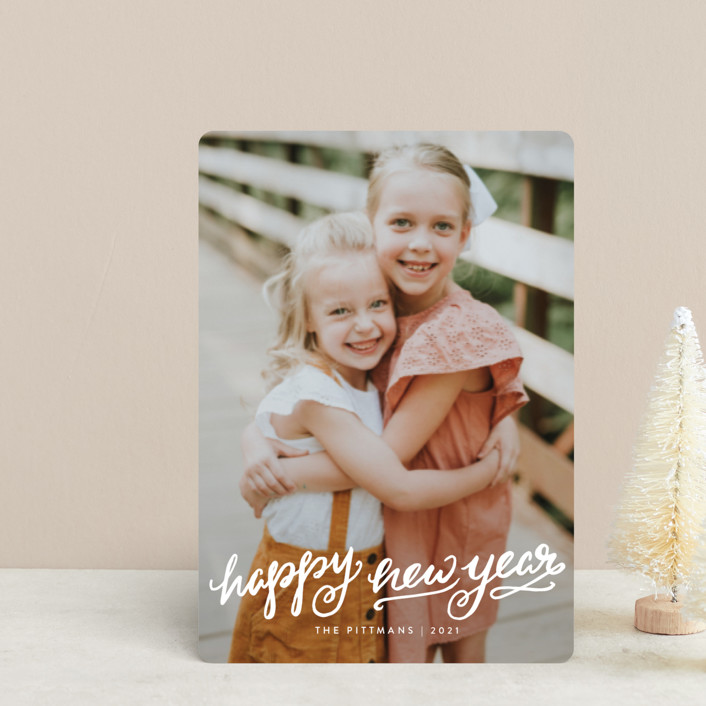 """""""Winter Brush"""" - Bohemian Holiday Petite Cards in Snow by Kristen Smith."""