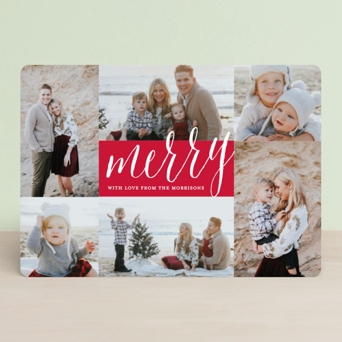 """""""Peace Overflowing"""" - Holiday Petite Cards in Berry by Katherine Moynagh."""