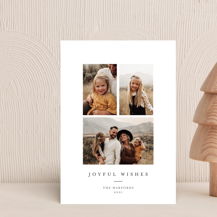 """Joyful Trio"" - Holiday Petite Cards in Noir by Angela Thompson."