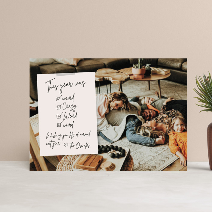 """""""Weird Note"""" - Funny Holiday Petite Cards in Natural by Danie Romrell."""