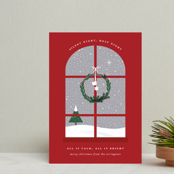 """""""Wintery Silent Night"""" - Holiday Petite Cards in Crimson by Bonjour Berry."""