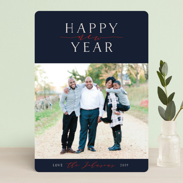 """""""Bliss"""" - Holiday Petite Cards in Navy by Jennifer Lew."""