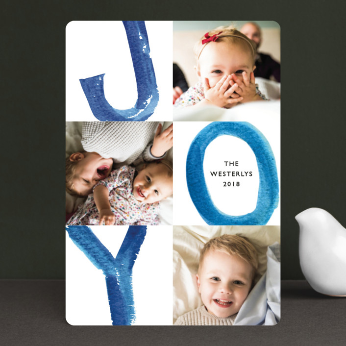 """""""Loud and Clear"""" - Holiday Petite Cards in Blueberry by Mansi."""