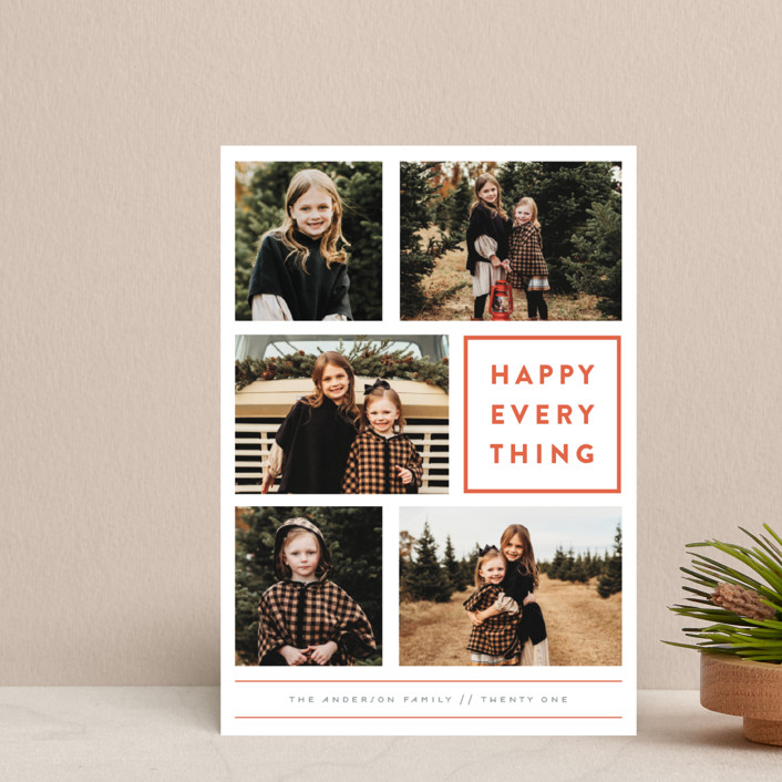 """Every Happy Thing"" - Holiday Petite Cards in Marmalade by Michelle Poe."