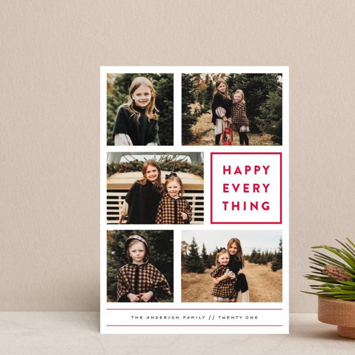 """""""Every Happy Thing"""" - Holiday Petite Cards in Rose Parade by Michelle Poe."""