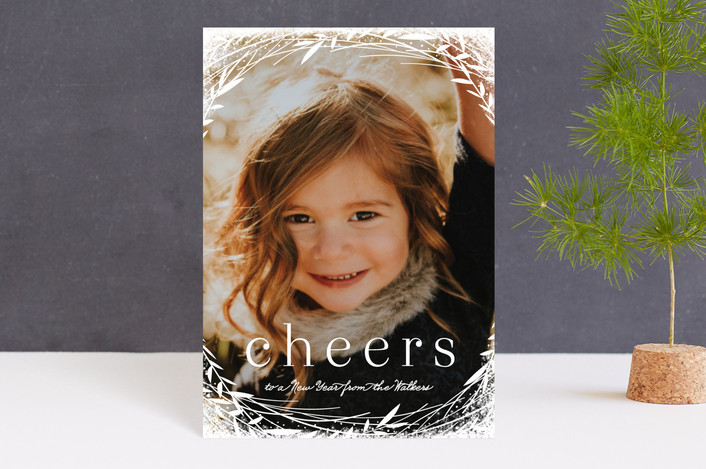 """""""Lovely Wreath"""" - Holiday Petite Cards in Snow by Melanie Severin."""