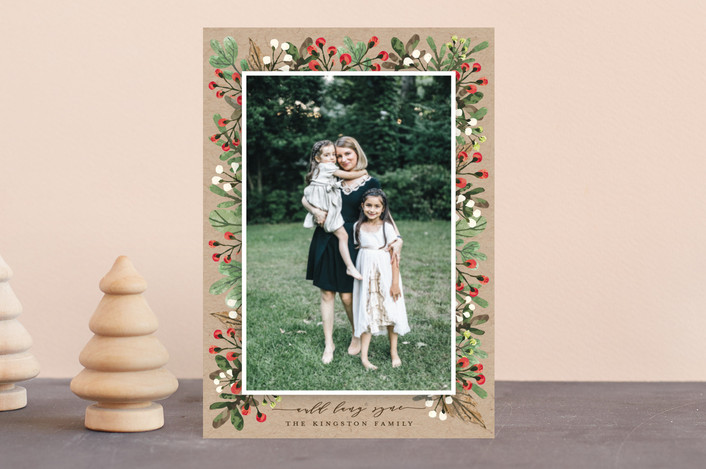 """All Decked Out"" - Holiday Petite Cards in Natural by Michelle Poe."