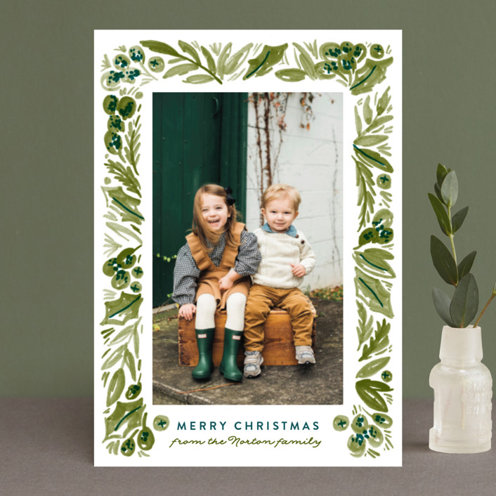 """""""Painted Foliage Frame"""" - Holiday Petite Cards in Pine by Alethea and Ruth."""