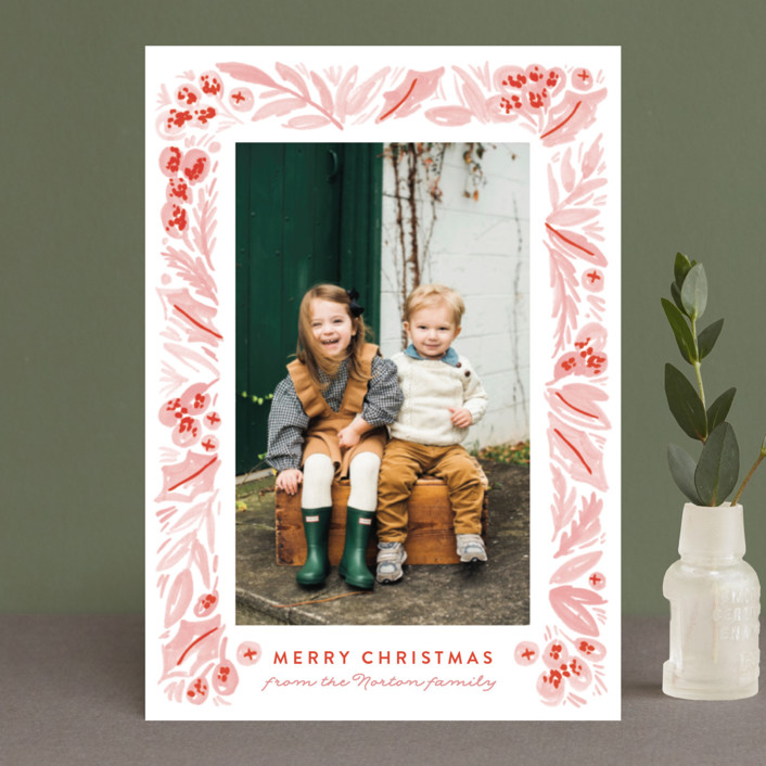 """Painted Foliage Frame"" - Holiday Petite Cards in Pine by Alethea and Ruth."