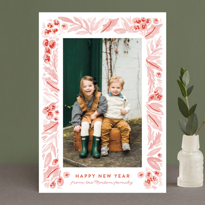 """""""Painted Foliage Frame"""" - Holiday Petite Cards in Holly by Alethea and Ruth."""