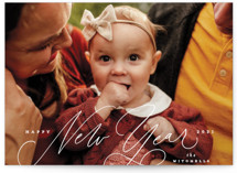 This is a white petite holiday card by Everett Paper Goods called Gentle with standard printing on smooth signature in petite.