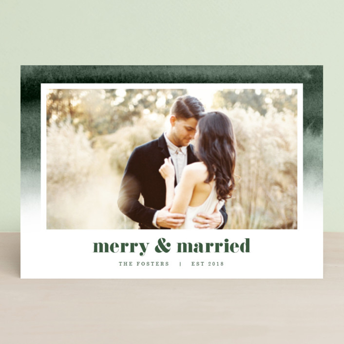 """Established in Color"" - Bohemian Holiday Petite Cards in Evergreen by Pixel and Hank."