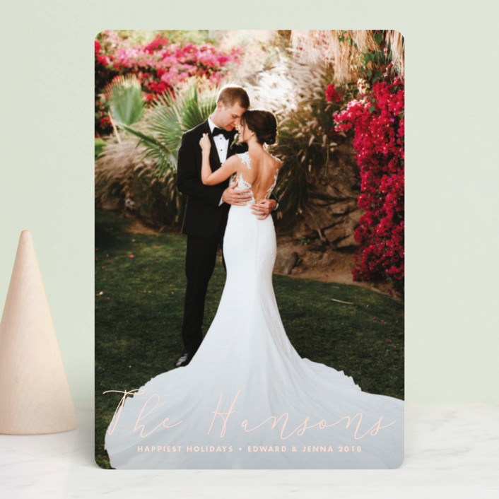 """""""Newlyweds"""" - Holiday Petite Cards in Blush by Stacey Meacham."""