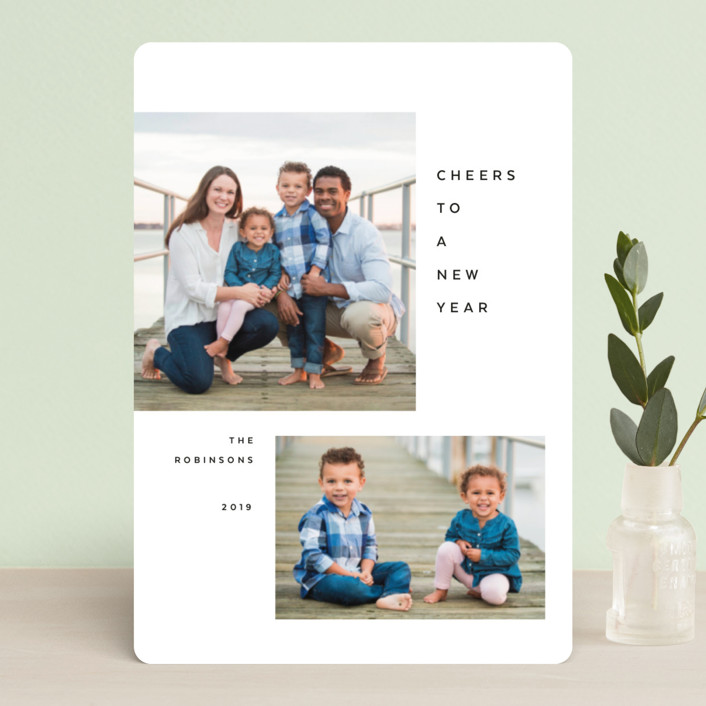 """""""Breathe"""" - Holiday Petite Cards in Jet by The Carillos."""