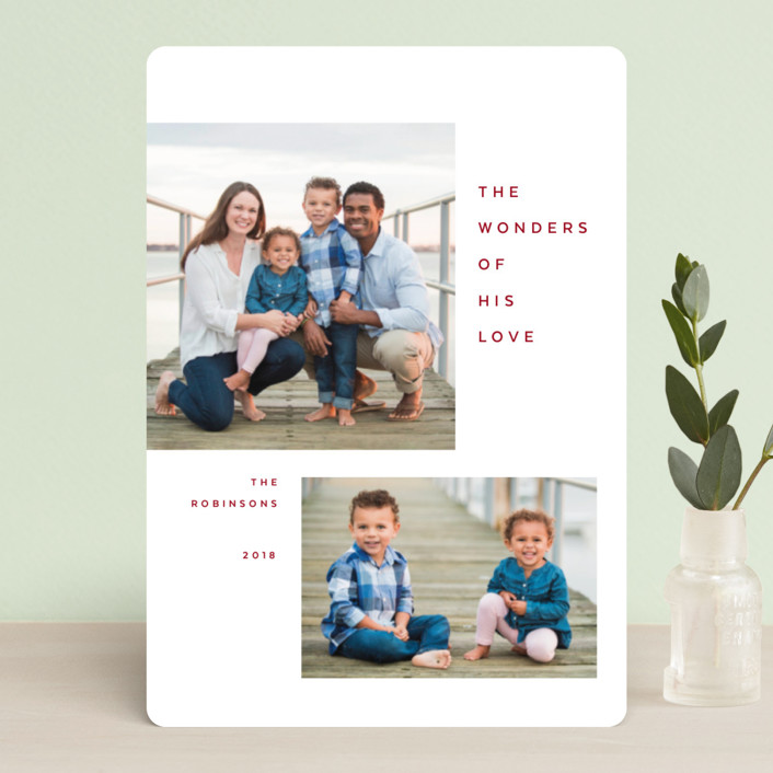 """""""Breathe"""" - Holiday Petite Cards in Crimson by The Carillos."""