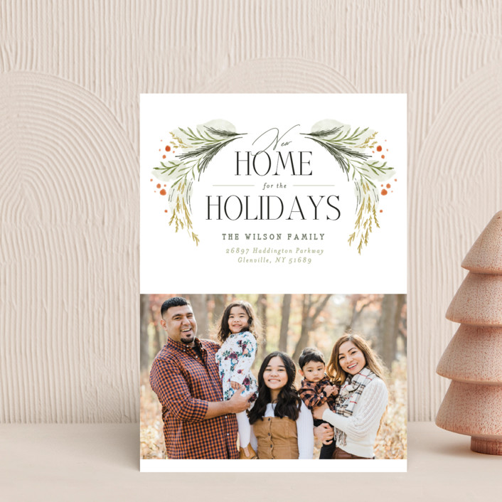 """""""New Home Garland"""" - Holiday Petite Cards in Wreath by Erin L. Wilson."""
