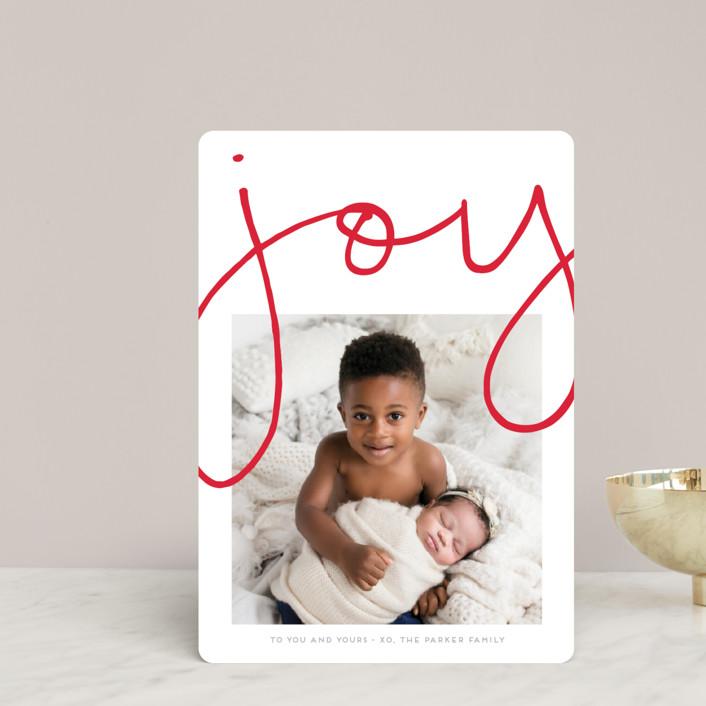 """""""More Joy"""" - Modern Holiday Petite Cards in Polar Bear by Kaydi Bishop."""