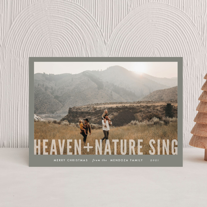 """""""Heaven + Nature"""" - Holiday Petite Cards in Ash by Melissa Egan of Pistols."""