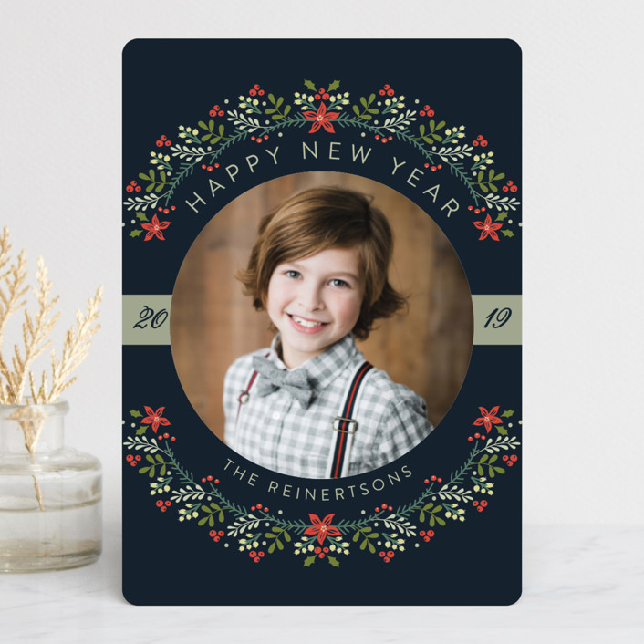 """""""The Most Wonderful Time Of The Year!"""" - Holiday Petite Cards in Navy by Susan Moyal."""