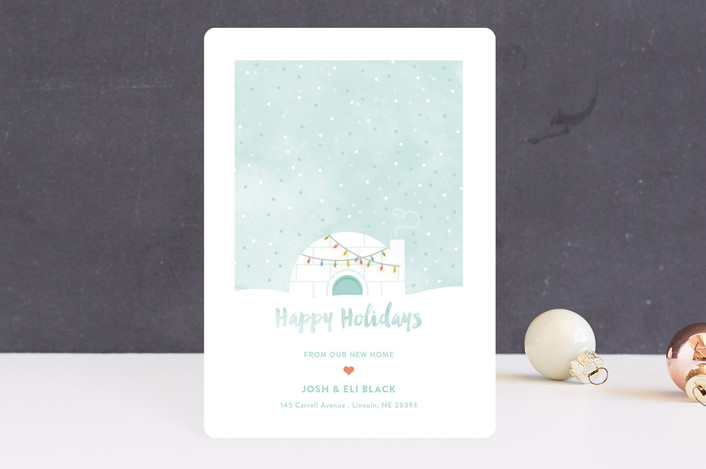 """Igloo Sweet Igloo"" - Holiday Petite Cards in Wintermint by Aspacia Kusulas."
