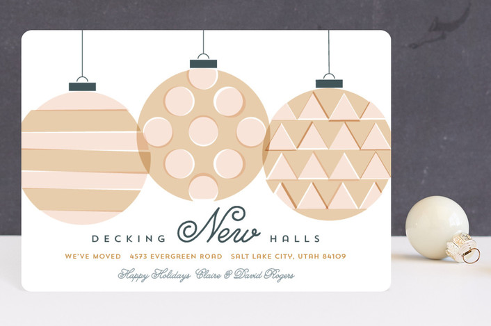 """""""Decking New Halls"""" - Holiday Petite Cards in Apricot by Jessica Booth."""