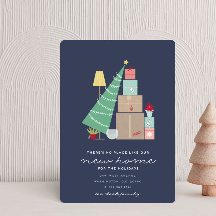 """""""On the Move"""" - Holiday Petite Cards in Navy by Bethan."""