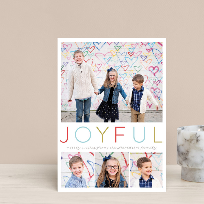"""Simple Joyful"" - Holiday Petite Cards in Cherry by Petra Kern."
