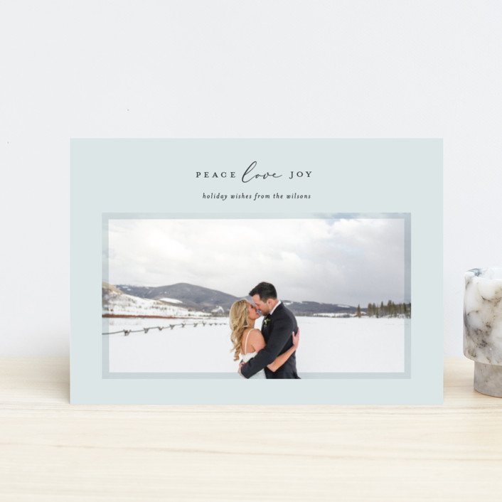 """Serene Frame"" - Holiday Petite Cards in Ice by Ekko Studio."