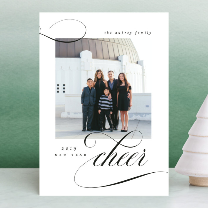 """""""Elegant Cheer"""" - Holiday Petite Cards in Noir by Bonjour Berry."""