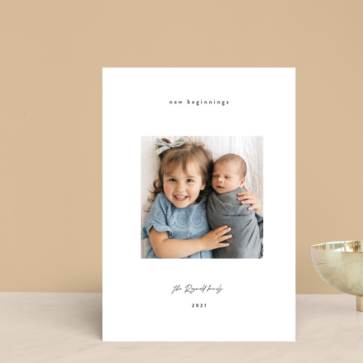 """""""Gazing. boy"""" - Holiday Petite Cards in Oyster by Benita Crandall."""