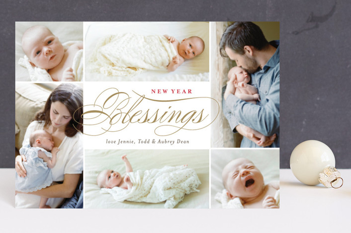 """Blessings Abound"" - Holiday Petite Cards in Golden by Carrie ONeal."