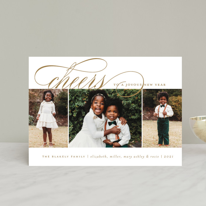 """Arrival Rejoiced"" - Holiday Petite Cards in Golden by Amy Kross."