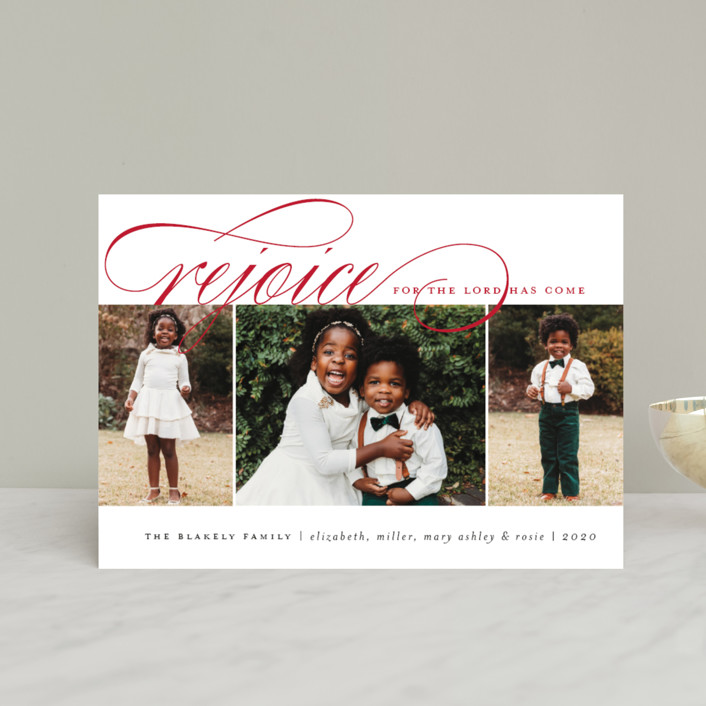 """""""Arrival Rejoiced"""" - Holiday Petite Cards in Golden by Amy Kross."""