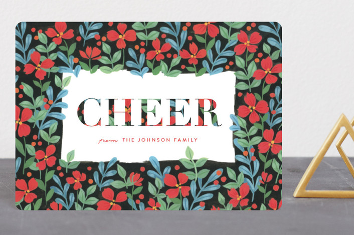 """Floral Joy"" - Holiday Petite Cards in Poinsettia by Four Wet Feet Studio."