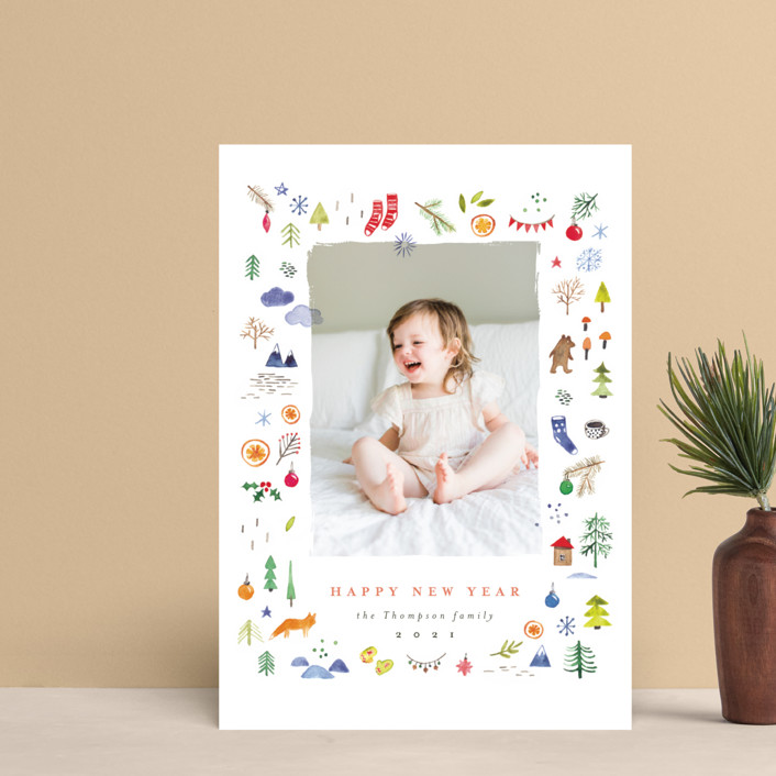"""""""merry little things"""" - Bohemian Holiday Petite Cards in Snow by Anastasia Makarova."""