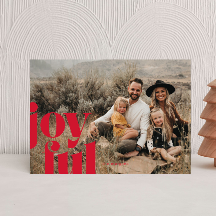 """Joyfully Bold"" - Holiday Petite Cards in Snow by Ann Gardner."