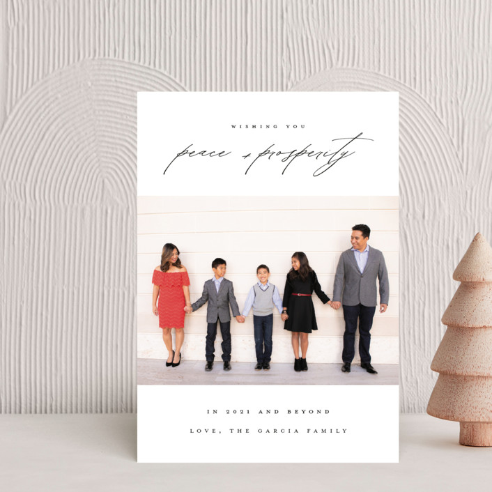 """""""Peace And Prosperity"""" - Holiday Petite Cards in Raven by Up Up Creative."""